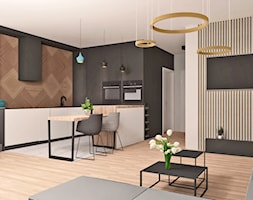 Salon z kuchnią - zdjęcie od AN Koncept Anita Niziałek - Homebook