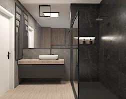 łazienka w ciemnych barwach - zdjęcie od AN Koncept Anita Niziałek - Homebook