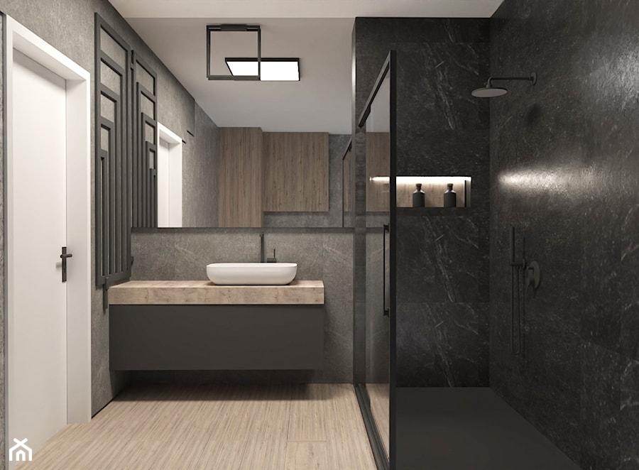 łazienka w ciemnych barwach - zdjęcie od AN Koncept Anita Niziałek