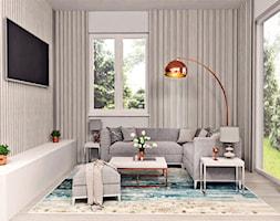Salon domu jednorodzinnego - zdjęcie od AN Koncept Anita Niziałek - Homebook