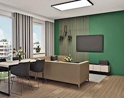 Salon w mocnej kolorystyce - zdjęcie od AN Koncept Anita Niziałek - Homebook