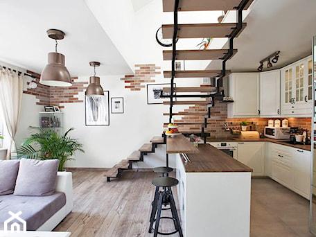 Aranżacje wnętrz - Kuchnia: kuchnia łączona z salonem - AN Koncept Anita Niziałek. Przeglądaj, dodawaj i zapisuj najlepsze zdjęcia, pomysły i inspiracje designerskie. W bazie mamy już prawie milion fotografii!