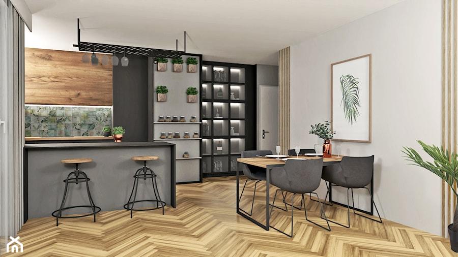 Salon z kuchnią - zdjęcie od AN Koncept Anita Niziałek