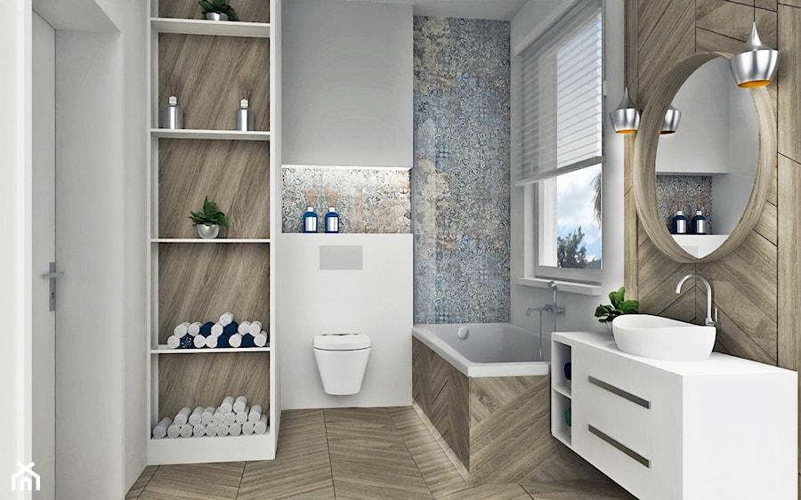 Jodełka w łazience - zdjęcie od AN Koncept Anita Niziałek