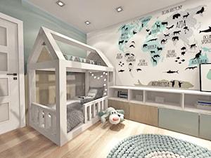 pokój dziecka - Średni szary pokój dziecka dla chłopca dla dziewczynki dla malucha, styl nowoczesny - zdjęcie od Art Design Studio