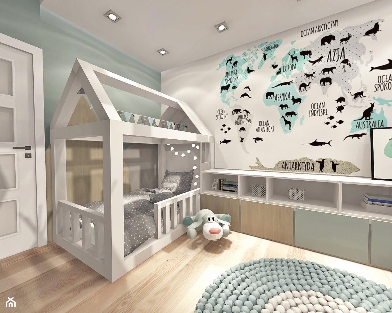 pokój dziecka - Średni szary pokój dziecka dla chłopca dla dziewczynki dla malucha, styl nowoczesny - zdjęcie od Art Design Studio - Homebook