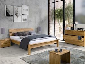 Sypialnia z łóżkiem dębowym Solid. Masywne łóżko 140, 160 i 180x200