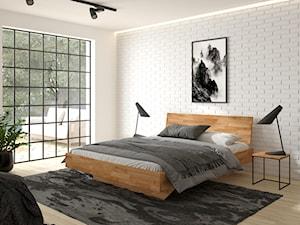 Sypialnia z meblami dębowymi w stylu loft