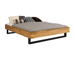 Dębowe łóżko z metalowymi nogami - zdjęcie od Soolido - Homebook