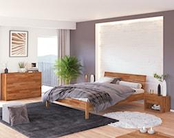 Sypialnia w nowoczesnym stylu z dębowymi meblami - zdjęcie od Soolido - Homebook