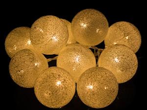 Cotton balls lampki do pokoju dziecięcego