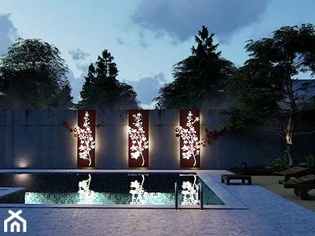 Aranżacje wnętrz - Ogród: Panele z Cor-ten, poświetlane - Projektowanie ogrodów w nowoczesnym stylu na terenie całej PL. Przeglądaj, dodawaj i zapisuj najlepsze zdjęcia, pomysły i inspiracje designerskie. W bazie mamy już prawie milion fotografii!