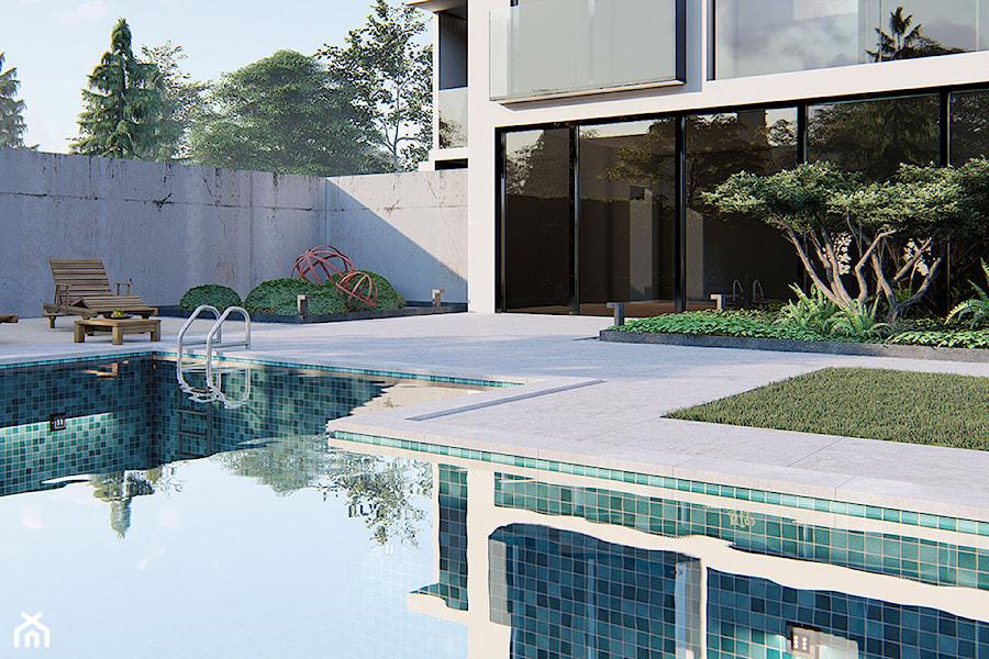 Minimalistyczny ogród w Wawie - zdjęcie od Projektowanie ogrodów w nowoczesnym stylu na terenie całej PL