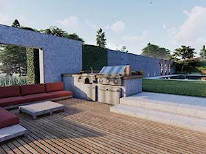 Grill w ogrodzie - zdjęcie od Projektowanie ogrodów w nowoczesnym stylu na terenie całej PL