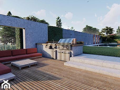 Aranżacje wnętrz - Ogród: Grill w ogrodzie - Projektowanie ogrodów w nowoczesnym stylu na terenie całej PL. Przeglądaj, dodawaj i zapisuj najlepsze zdjęcia, pomysły i inspiracje designerskie. W bazie mamy już prawie milion fotografii!
