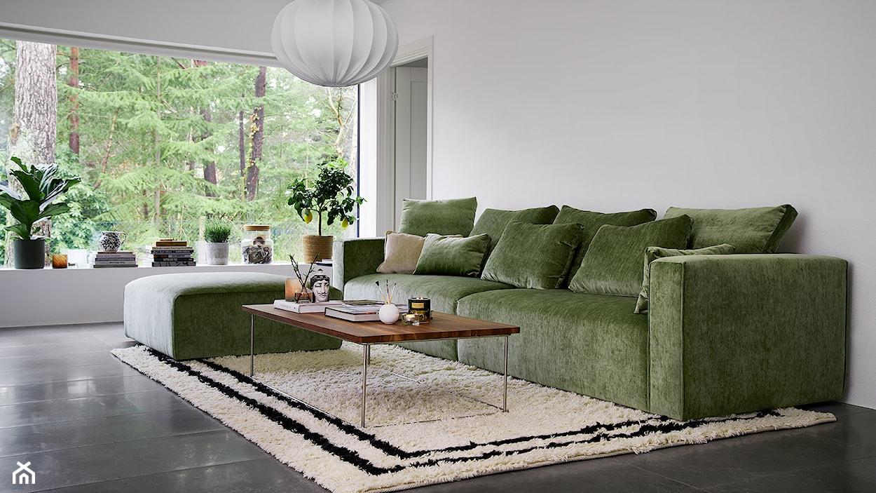 sofa w kolorze zielonym