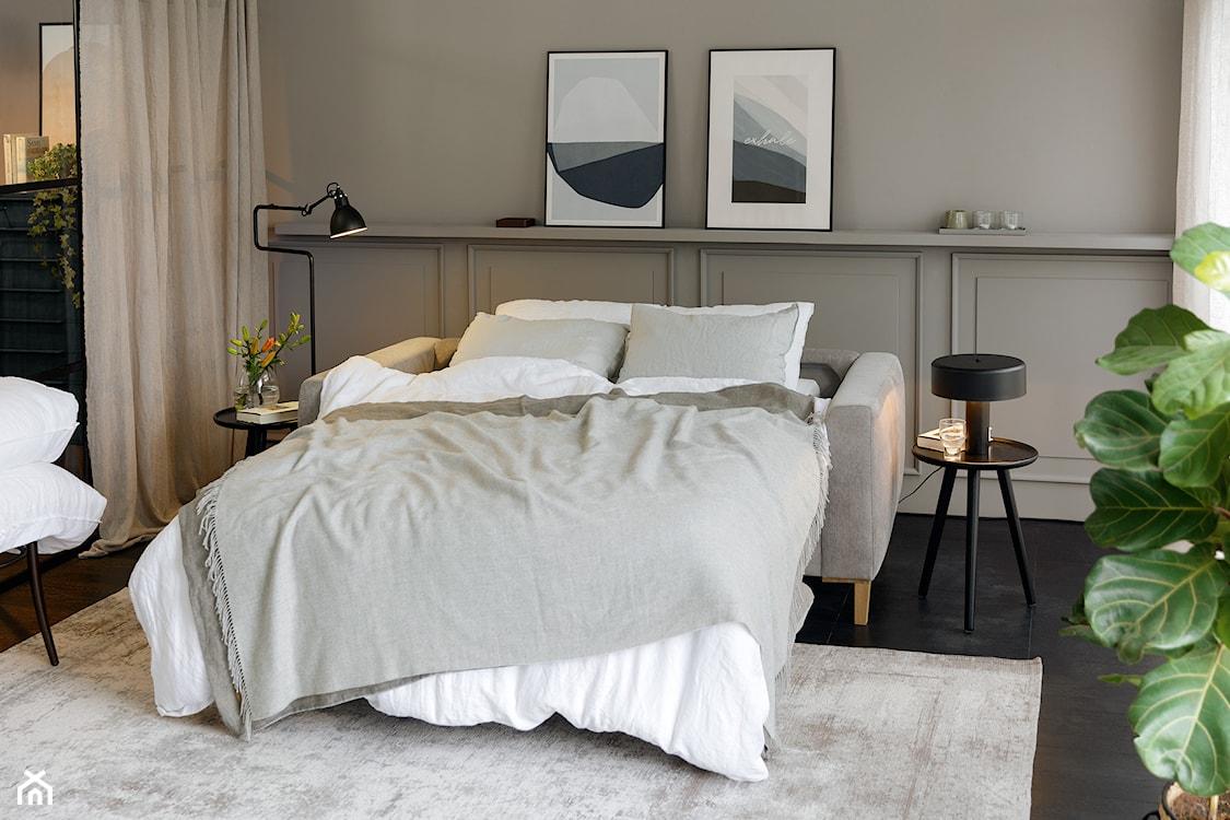 skandynawska sofa z funkcją spania