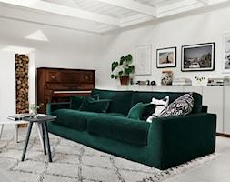 New York - Mały biały salon, styl eklektyczny - zdjęcie od SITS