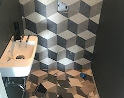 Podłoga LVT 3d i heksagony - Łazienka, styl nowoczesny - zdjęcie od Prestige Floor - Homebook