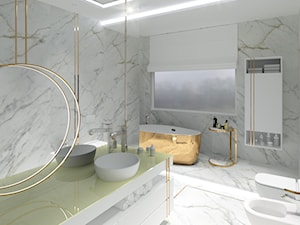 Łazienka z elementami złota - zdjęcie od Modelim