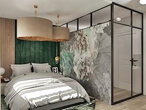 Projekt sypialni - Garderoba, styl industrialny - zdjęcie od Żeromska Projektowanie wnętrz