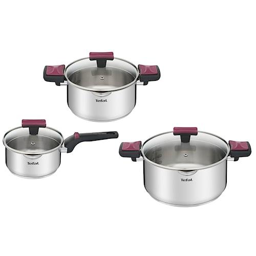 Zestaw garnków Cook & Clip 6 elem. Tefal G723S674