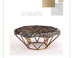 Stolik kawowy Cristallo - złoto czarny - zdjęcie od Grad Design - Homebook