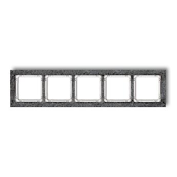 KARLIK Ramka uniwersalna pięciokrotna - beton (ramka: antracytowa; spód: biały)