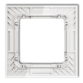 KARLIK Ramka uniwersalna pojedyncza transparentna DECO Art - efekt szkła (ramka: transparentna; spód: biały)