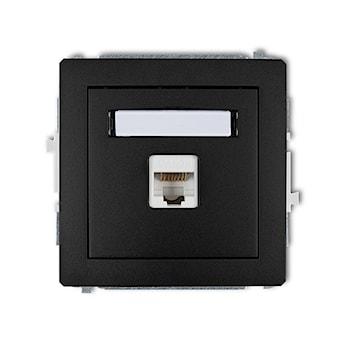 KARLIK Mechanizm gniazda komputerowego pojedynczego 1xRJ45, kat. 5e, 8-stykowy