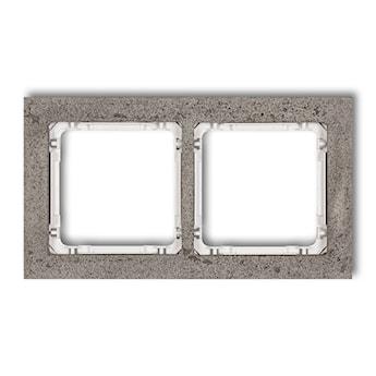 KARLIK Ramka uniwersalna podwójna - beton (ramka: ciemnoszary; spód: biały)