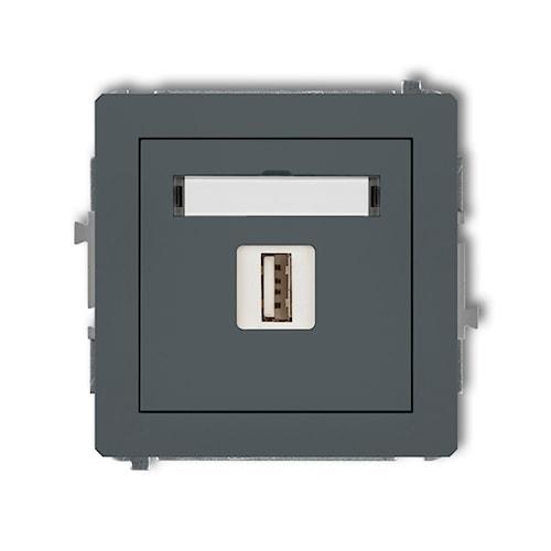 KARLIK Mechanizm gniazda pojedynczego USB-AA 2.0