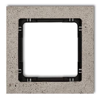 KARLIK Ramka uniwersalna pojedyncza - beton (ramka: jasnoszara; spód: czarny)