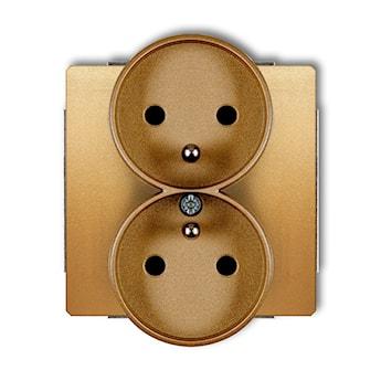 KARLIK Mechanizm gniazda podwójnego do ramki z uziemieniem 2x(2P+Z) (przesłony torów prądowych)