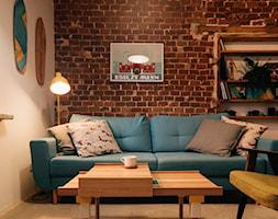 Mikro-loft na Księżym Młynie - Salon, styl industrialny - zdjęcie od MRSatelier - Homebook