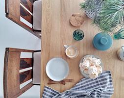 Eklektyczny dom realizacja 2021 - Jadalnia, styl rustykalny - zdjęcie od PT8 INTERIOR DESIGN Magdalena Lech Biuro projektowania wnętrz - Homebook