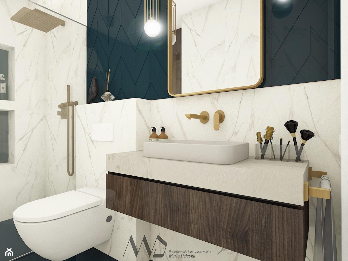 Nowoczesna, elegancka łazienka - zdjęcie od Projektowanie i Aranżacja Wnętrz Marta Dalecka - Homebook