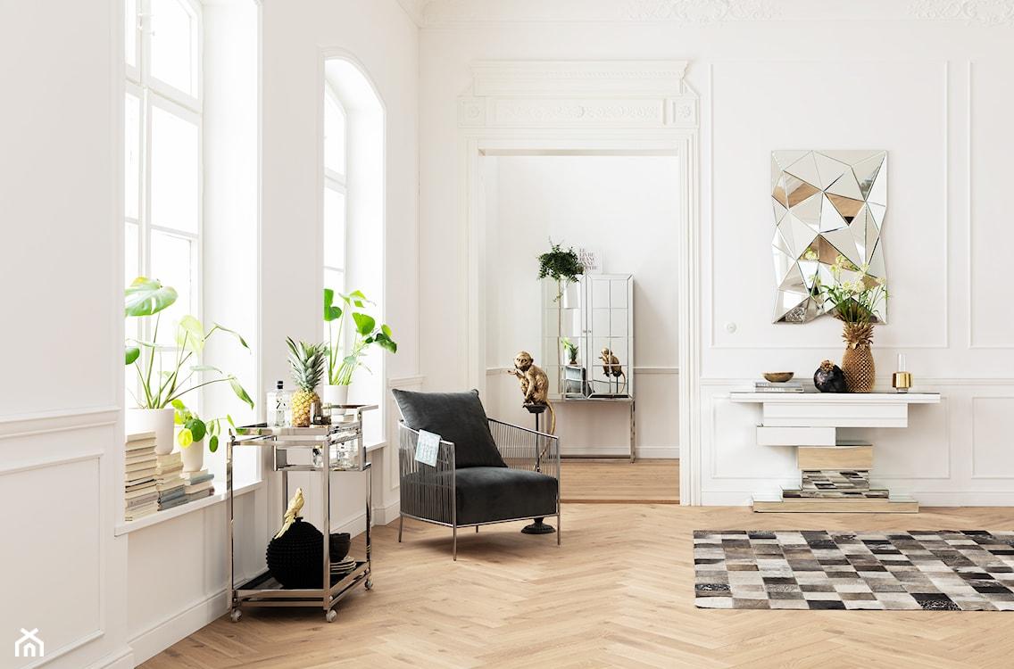 jasny salon w stylu eklektycznym