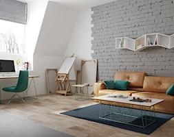Mały biały salon, styl nowoczesny - zdjęcie od sfmeble.pl