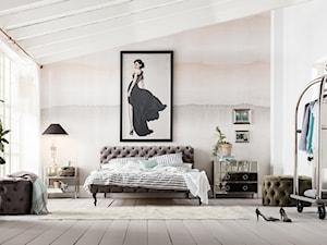Łóżko tapicerowane w roli głównej