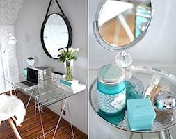 Metamorfoza sypialni - Średnia otwarta garderoba, styl glamour - zdjęcie od sfmeble.pl