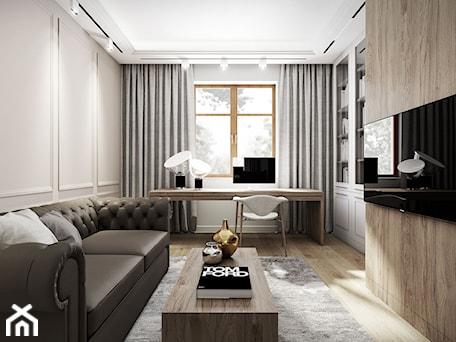 Aranżacje wnętrz - Biuro: Apartament w stylu nowojorskim - gabinet. - MILK/DESIGNS ARCHITEKTURA&WNĘTRZA. Przeglądaj, dodawaj i zapisuj najlepsze zdjęcia, pomysły i inspiracje designerskie. W bazie mamy już prawie milion fotografii!