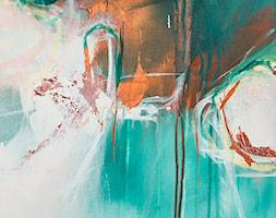 Ręcznie malowany obraz Odyseja - 80x80 cm - detal - zdjęcie od Studio Plama - Agnieszka Potocka-Makoś - Homebook