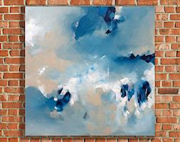 Miłe szepty IV - 90x90 cm - ręcznie malowany obraz na płótnie - zdjęcie od Studio Plama - Agnieszka Potocka-Makoś - Homebook
