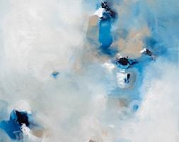 Miłe szepty II - 90x90 cm - ręcznie malowany obraz na płótnie lnianym - zdjęcie od Studio Plama - Agnieszka Potocka-Makoś - Homebook