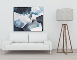 """Ręcznie malowany obraz abstrakcyjny """"Chaos"""" 100x120 cm - zdjęcie od Studio Plama - Agnieszka Potocka-Makoś - Homebook"""