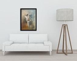 Ręcznie malowany obraz Portret Pierwsza Pani - 50x70 cm - zdjęcie od Studio Plama - Agnieszka Potocka-Makoś - Homebook