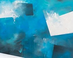 Ręcznie malowany obraz Przymrozek - 100x100 cm - zdjęcie od Studio Plama - Agnieszka Potocka-Makoś - Homebook