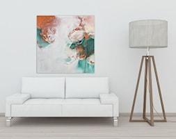 Ręcznie malowany obraz Odyseja - 80x80 cm - zdjęcie od Studio Plama - Agnieszka Potocka-Makoś - Homebook