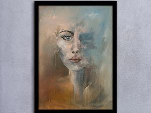 Ręcznie malowany obraz Portret Pierwsza Pani - 50x70 cm